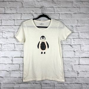 J. Crew | Collector Tee Shirt Sequin Penguin Sz XS